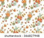 seamless floral pattern | Shutterstock .eps vector #366827948