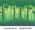 game seamless horizontal forest ... | Shutterstock .eps vector #366831848