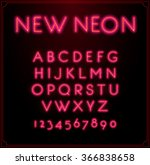 neon font type alphabet.... | Shutterstock .eps vector #366838658