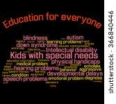word cloud  collage . children... | Shutterstock . vector #366840446