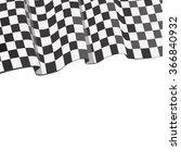 racing flag banner   Shutterstock . vector #366840932