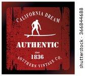 california dream red surf... | Shutterstock .eps vector #366844688