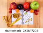 fresh fruits  vegetables  tape... | Shutterstock . vector #366847205