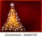 Abstract Golden Christmas Tree...
