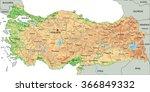 high detailed turkey physical... | Shutterstock .eps vector #366849332