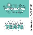 set of modern vector... | Shutterstock .eps vector #366850592