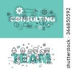 set of modern vector... | Shutterstock .eps vector #366850592