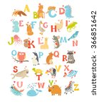 cute vector zoo alphabet. funny ... | Shutterstock .eps vector #366851642