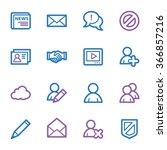 community. social media icons... | Shutterstock .eps vector #366857216