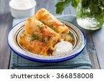 kelem dolmasi   stuffed cabbage ...   Shutterstock . vector #366858008