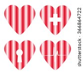 heart set | Shutterstock . vector #366864722