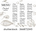 restaurant menu design | Shutterstock .eps vector #366872345