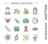 medical icons set. colorful... | Shutterstock .eps vector #366875306