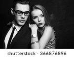 fashion black and white studio... | Shutterstock . vector #366876896