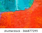 hand drawn oil painting.... | Shutterstock . vector #366877295