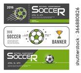 set of football or soccer... | Shutterstock .eps vector #366880826
