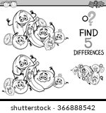 black and white cartoon... | Shutterstock .eps vector #366888542