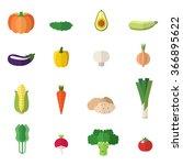 vegetable icons vector set....   Shutterstock .eps vector #366895622