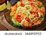 udon  pasta with shrimp ... | Shutterstock . vector #366895952