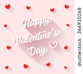 happy valentine's day   rose  ... | Shutterstock .eps vector #366910268
