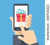 gift app page on smartphone... | Shutterstock .eps vector #366916322