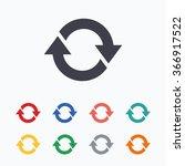 rotation icon. repeat symbol.... | Shutterstock . vector #366917522