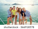 friendship and vacation. group... | Shutterstock . vector #366918578