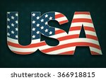 usa with flag on dark background | Shutterstock .eps vector #366918815