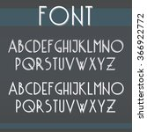 3d thin font in upper and lower ... | Shutterstock .eps vector #366922772