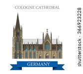 cologne cathedral kolner dom in ... | Shutterstock .eps vector #366923228