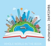 Whole World In The Book Flat...