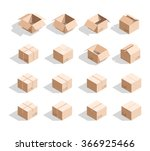 box isolated templates... | Shutterstock .eps vector #366925466