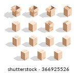 set of 15 realistic isometric... | Shutterstock .eps vector #366925526