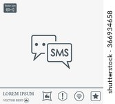 sms sign icon | Shutterstock .eps vector #366934658