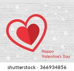 happy valentines day card | Shutterstock .eps vector #366934856