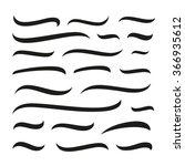 underlines lettering lines set... | Shutterstock .eps vector #366935612