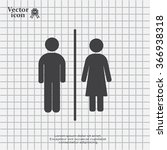 man and lady toilet sign | Shutterstock .eps vector #366938318