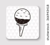 golf doodle | Shutterstock . vector #366943418