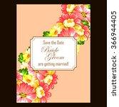 romantic invitation. wedding ...   Shutterstock .eps vector #366944405