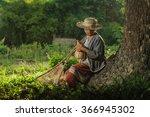 Asian Grandmother Fisherman...