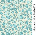 Decorative fabric flower background - stock photo