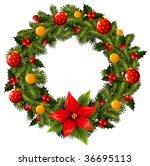 christmas wreath   Shutterstock .eps vector #36695113