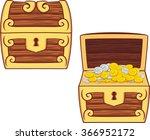 illustrations of treasure chest ... | Shutterstock .eps vector #366952172