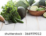 green fresh fruit and