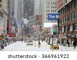 new york  ny jan 03  heavy snow ... | Shutterstock . vector #366961922