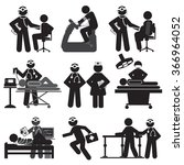 healthcare and medical icon set ... | Shutterstock .eps vector #366964052