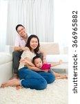 portrait of asian family   Shutterstock . vector #366965882