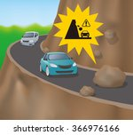 cars on the road on the cliff ...   Shutterstock .eps vector #366976166