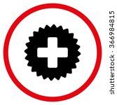 healthcare stamp vector icon.... | Shutterstock .eps vector #366984815