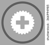 health care stamp vector icon.... | Shutterstock .eps vector #366994985